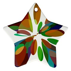Colorful abstract flower Star Ornament (Two Sides)