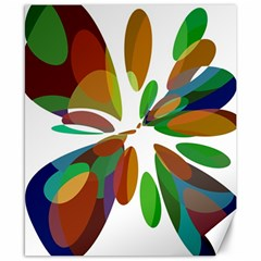 Colorful abstract flower Canvas 8  x 10