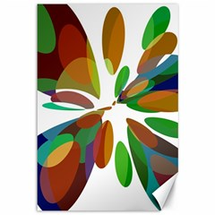 Colorful abstract flower Canvas 12  x 18