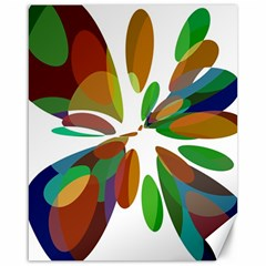 Colorful abstract flower Canvas 16  x 20