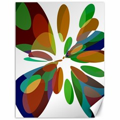Colorful abstract flower Canvas 18  x 24