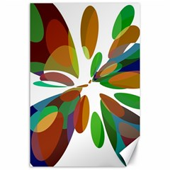 Colorful abstract flower Canvas 24  x 36