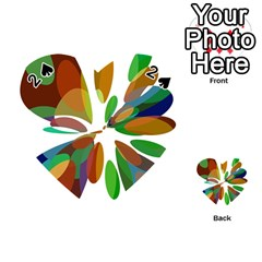 Colorful abstract flower Playing Cards 54 (Heart)