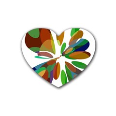 Colorful abstract flower Heart Coaster (4 pack)
