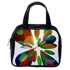 Colorful abstract flower Classic Handbags (One Side)