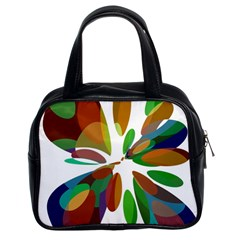 Colorful abstract flower Classic Handbags (2 Sides)