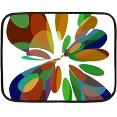Colorful abstract flower Double Sided Fleece Blanket (Mini)