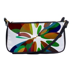 Colorful abstract flower Shoulder Clutch Bags