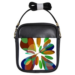 Colorful abstract flower Girls Sling Bags