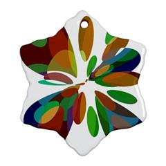 Colorful abstract flower Ornament (Snowflake)