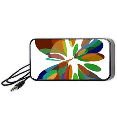 Colorful abstract flower Portable Speaker (Black)