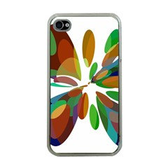 Colorful abstract flower Apple iPhone 4 Case (Clear)