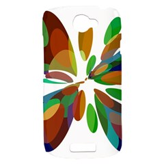 Colorful abstract flower HTC One S Hardshell Case