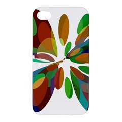 Colorful abstract flower Apple iPhone 4/4S Premium Hardshell Case