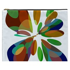 Colorful abstract flower Cosmetic Bag (XXXL)