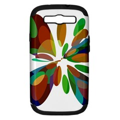 Colorful abstract flower Samsung Galaxy S III Hardshell Case (PC+Silicone)