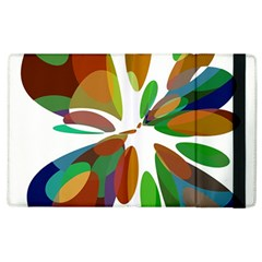 Colorful abstract flower Apple iPad 2 Flip Case