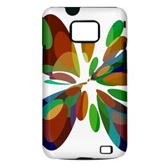 Colorful abstract flower Samsung Galaxy S II i9100 Hardshell Case (PC+Silicone)