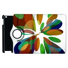 Colorful abstract flower Apple iPad 3/4 Flip 360 Case