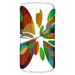 Colorful abstract flower Samsung Galaxy S3 S III Classic Hardshell Back Case