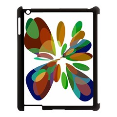 Colorful abstract flower Apple iPad 3/4 Case (Black)
