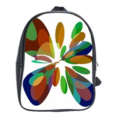 Colorful abstract flower School Bags (XL)