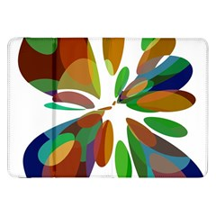 Colorful abstract flower Samsung Galaxy Tab 8.9  P7300 Flip Case