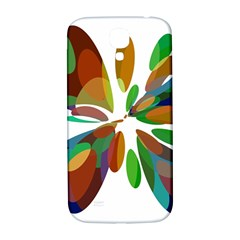 Colorful abstract flower Samsung Galaxy S4 I9500/I9505  Hardshell Back Case