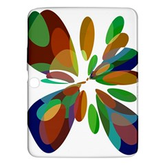 Colorful abstract flower Samsung Galaxy Tab 3 (10.1 ) P5200 Hardshell Case