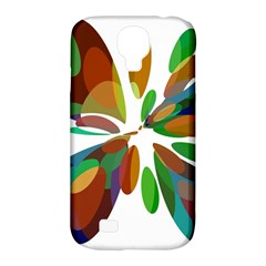 Colorful abstract flower Samsung Galaxy S4 Classic Hardshell Case (PC+Silicone)