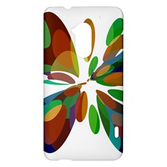 Colorful abstract flower HTC One Max (T6) Hardshell Case