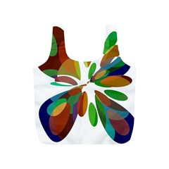 Colorful abstract flower Full Print Recycle Bags (S)