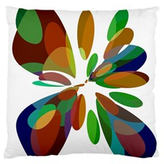 Colorful abstract flower Large Flano Cushion Case (One Side)