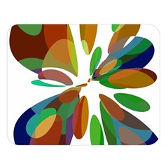 Colorful abstract flower Double Sided Flano Blanket (Large)