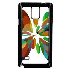 Colorful abstract flower Samsung Galaxy Note 4 Case (Black)