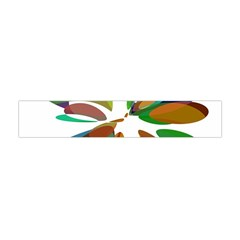 Colorful abstract flower Flano Scarf (Mini)