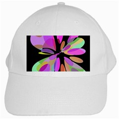 Pink abstract flower White Cap