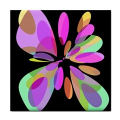 Pink abstract flower Tile Coasters