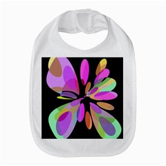 Pink abstract flower Bib