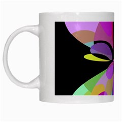 Pink abstract flower White Mugs