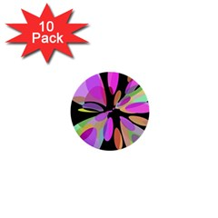 Pink abstract flower 1  Mini Buttons (10 pack)