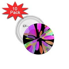 Pink abstract flower 1.75  Buttons (10 pack)