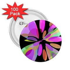 Pink abstract flower 2.25  Buttons (100 pack)