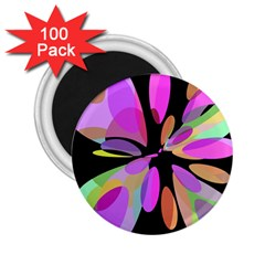 Pink abstract flower 2.25  Magnets (100 pack)