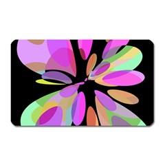 Pink abstract flower Magnet (Rectangular)