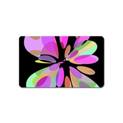 Pink abstract flower Magnet (Name Card)
