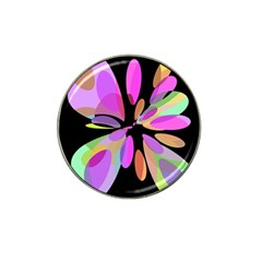 Pink abstract flower Hat Clip Ball Marker (4 pack)