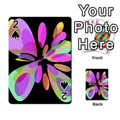 Pink abstract flower Playing Cards 54 Designs