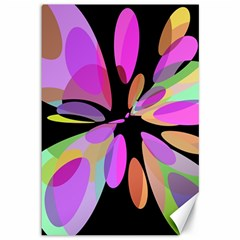 Pink abstract flower Canvas 12  x 18