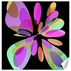 Pink abstract flower Canvas 16  x 16